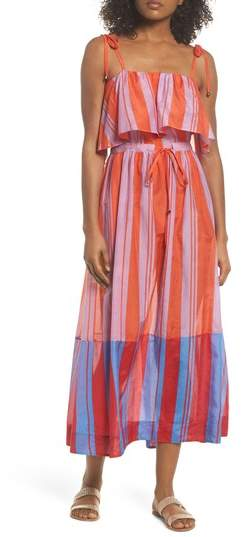 Ruffle Cover-Up Maxi Dress