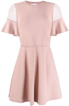 RED Valentino ruffled sleeves knitted dress