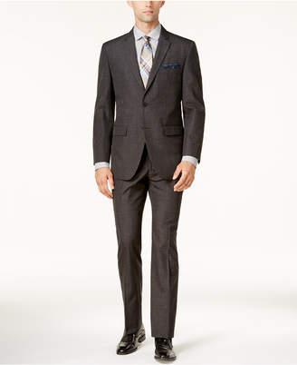 Perry Ellis Men's Slim-Fit Gray Plaid Suit