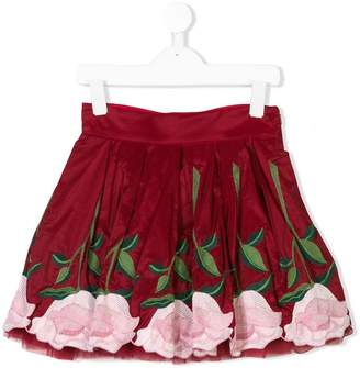 MonnaLisa floral-embroidered skirt