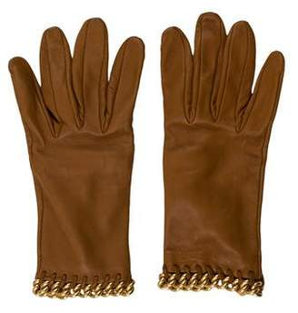 Hermes Lambskin Chain-Link Gloves