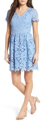 Women's Dee Elly Lace Skater Dress $55 thestylecure.com