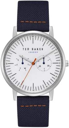 Ted Baker Brit Stainless Steel Textured Strap Watch