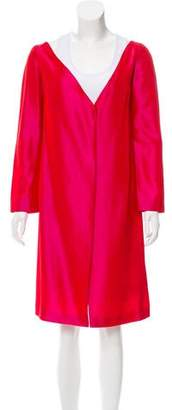 Blumarine Knee-Length Collarless Coat