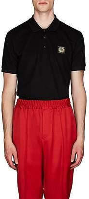 Givenchy Men's Logo-Patch Cotton Polo Shirt - Black