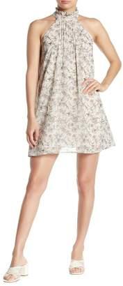 J.o.a. Floral Pintuck Swing Dress