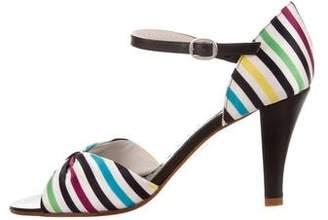 Marc Jacobs Striped Satin Sandals