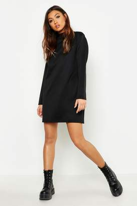 f46c57e606f boohoo Funnel Neck Long Sleeve Sweatshirt Dress