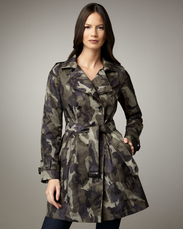 Jane Post Camouflage Belted Trenchcoat