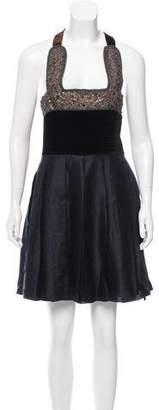 6267 Sleeveless Embellished Knee-Length Dress