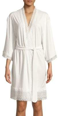 Flora Nikrooz Lace Quarter-Sleeve Robe