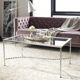 Safavieh Couture Matilda Modern Glam Leaf Glass Coffee Table