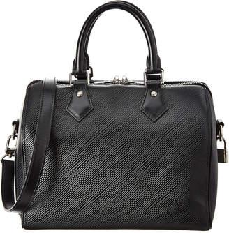 Louis Vuitton Black Epi Leather Speedy 25 Bandouliere