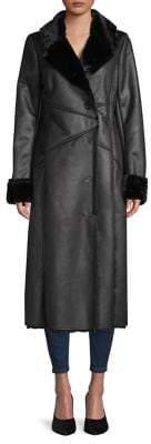 Via Spiga Faux Fur-Lined Long Coat