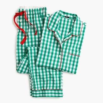 J.Crew Vintage pajama set in green gingham