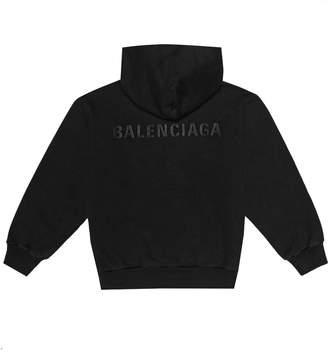 Balenciaga Kids Kids' logo cotton-blend hoodie