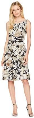Nine West Sleeveless Fit Flare Printed Dress Women's Dress