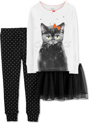 Carter's Carter Toddler Girls 3-Pc. Cat Tutu Pajama Set