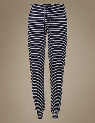 Marks and Spencer Cuffed Hem Striped Pyjama Bottoms