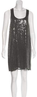 Haute Hippie Sequin Sleeveless Mini Dress