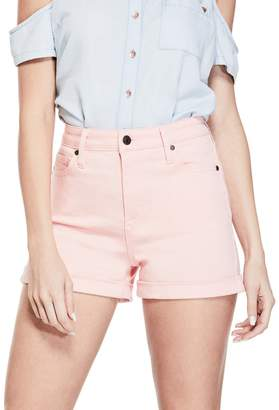 Factory Guess Women's Gia Rolled Cuff Denim Shorts