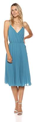 Ali & Jay Women's Wrap Top Pleated Fit and Flare Sleeveless Dress