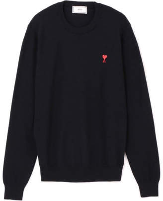 Ami PULL COL ROND BRODERIE DE CCEUR