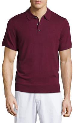 Neiman Marcus Short-Sleeve Cashmere-Silk Polo Shirt $175 thestylecure.com