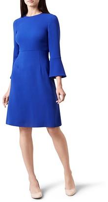 HOBBS LONDON Cassie Bell-Sleeve Dress $250 thestylecure.com