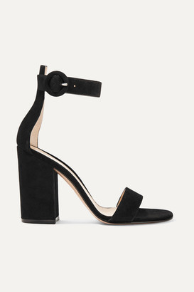 Gianvito Rossi Versilia 100 Suede Sandals - Black