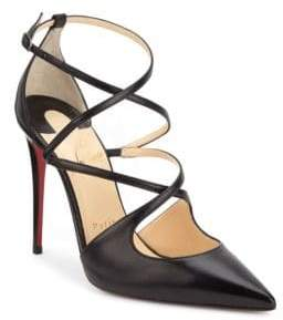 Christian Louboutin Crossfliketa 100 Leather Pumps