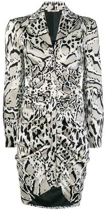 Roberto Cavalli animal print shirt dress