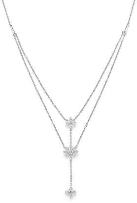 Bloomingdale's Diamond Flower Y Necklace in 14K White Gold, .70 ct. t.w.