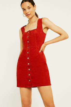 Urban Outfitters Button-Front Corduroy Mini Dress