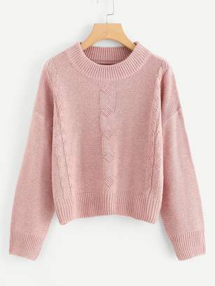 Shein Drop Shoulder Cable Knit Jumper