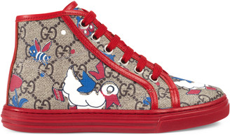 Children's GG ducks high-top sneaker $365 thestylecure.com