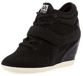 Ash Bebop Knit Lace-Up Wedge Sneaker