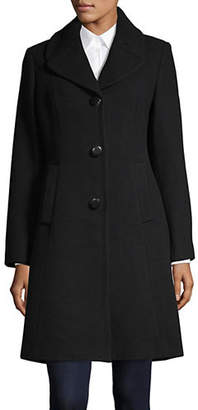 Kate Spade Bow Back Single-Breasted Wool-Blend Coat