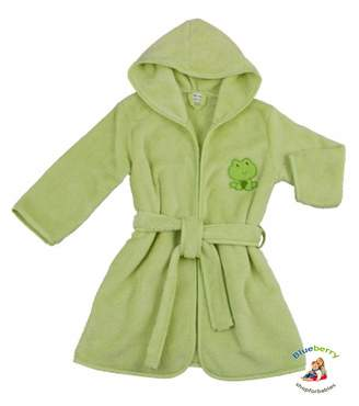 Blueberryshop BlueberryShop Embroidered Luxurious Hooded Bathrobe/Dressing Gown 4-5 Years