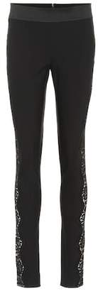 Stella McCartney Lace-trimmed skinny pants
