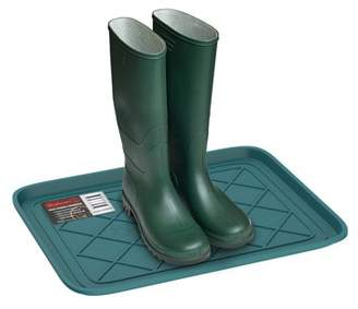 All Weather Boot Tray - Small Water Resistant Plastic Utility Shoe Mat for Indoor and Outdoor Use in All Seasons by Stalwart (Teal)
