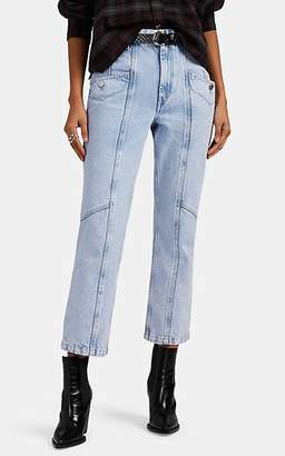Etoile Isabel Marant Women's Notty Straight Crop Jeans - Lilac