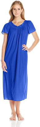 Miss Elaine Women's Tricot Long Flutter Sleeve Nightgown