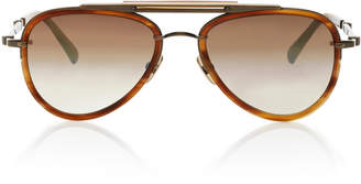 Mr. Leight Doheny SL54 Aviator-Style Acetate And Metal Sunglasses
