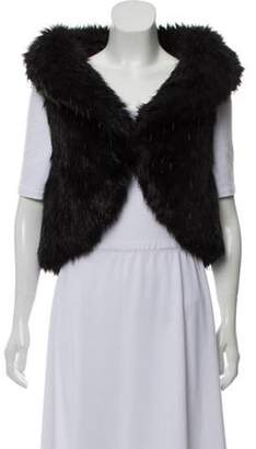 Chanel Embellished Fantasy Fur Vest Black Embellished Fantasy Fur Vest