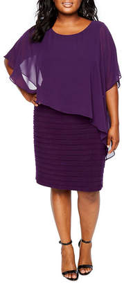 JCPenney Scarlett Scarf Overlay Cape Dress - Plus