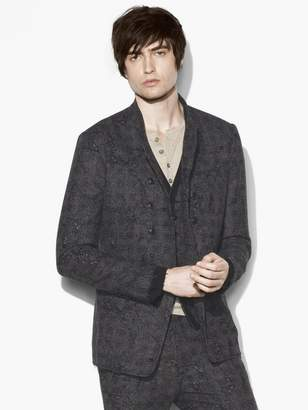 John Varvatos Abstract Jacquard Jacket