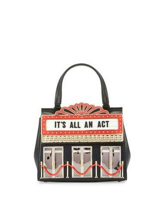 kate spade new york dress the part 3D theater bag, black/multi $398 thestylecure.com