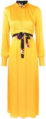 MSGM long sleeve ruffle-neck dress