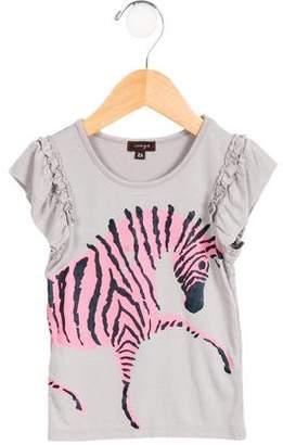 Imoga Girls' Andrea Animal Print Top